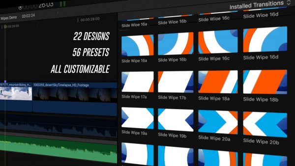 22 Designs - Slide Wipes Final Cut Pro plugin